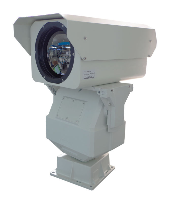 HD PTZ Long Range Thermal Security Camera For 20km Border Defense 50mK