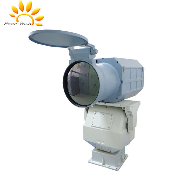 PTZ Surveillance Thermal Imaging Camera With FPA MCT Detector Auto Focus Lens
